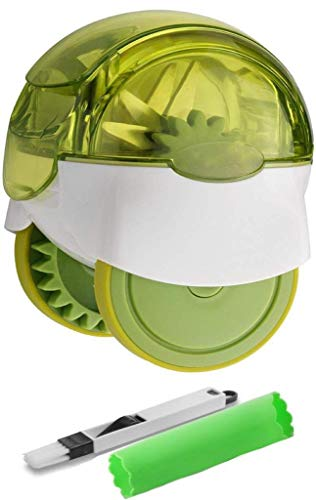 Garlic Chopper Includes Silicone Garlic Peeler And Cleaning Brush By Royal Blade - Wheel Chopper