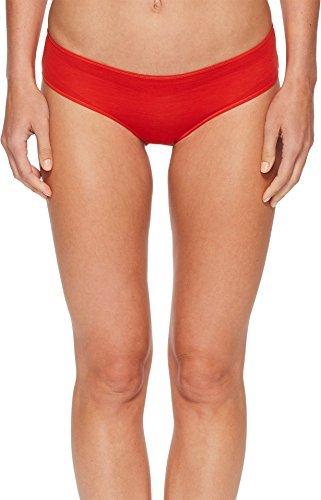 HANRO Women's Ultralight Hi Cut Brief, Orange/Red, Large