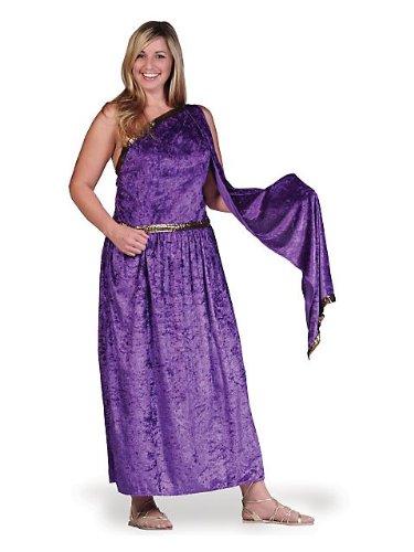 Caesar Costume Women - Toga Costume with drape Plus, Purple, One Size