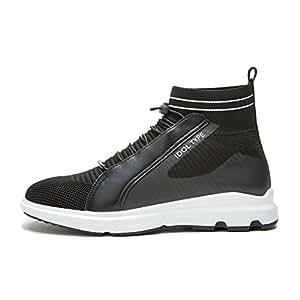 WYYY Calzado De Hombre Cordones Cabeza Redonda Zapatos Casuales Negro Primavera Y Otoño (Tamaño : 41)