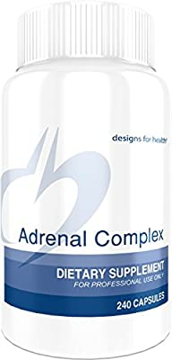 Designs for Health - Adrenal Complex, 240 Vegetarian Capsules