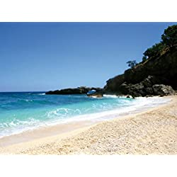 Beaches Poster Photo Wallpaper - Sardinia, Deep Blue Sky And Turqoise Sea, 2 Parts (95 x 71 inches)