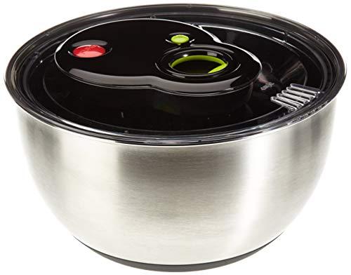 (Emsa 513441 Turboline Salad Spinner, Medium, Silver)