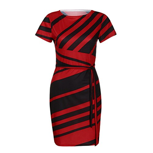 Church Skirt Set (UOFOCO Summer Dress for Women Mini Dresses Working Dresses Pencil Stripe Party Dress Casual)