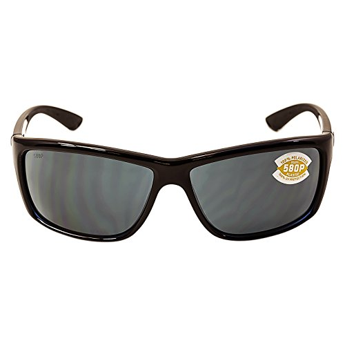 Costa Del Mar Mag Bay Sunglasses, Shiny Black, Gray 580P - Online Sunglass