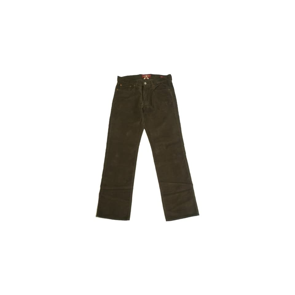 LUCKY BRAND BROWN VINTAGE 361 STRAIGHT FIT CORDUROY FLAT FRONT 5 PKT PANTS MEN (30x30)