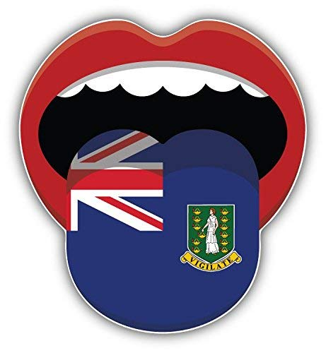 (DG Graphics British Virgin Islands Tongue World Flag Art Decor 5'' x 5'' Vinyl Decal Sticker Wall Window Any Smooth Surface)