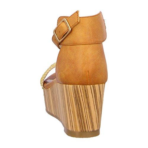 BULLBOXER 144002F2S_ORCGANA - Sandalias de vestir para mujer Naranja - Orange/Cognac