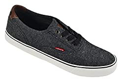 Levis Men's Rob Chambray Fashion Sneaker, Navy, 9 M US