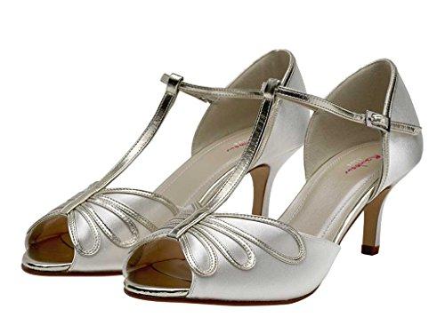 Satin Club en Chaussures Mariée Ivoire En Peep bar De Arc Peep Toe T harlow Toe 6r6vpx