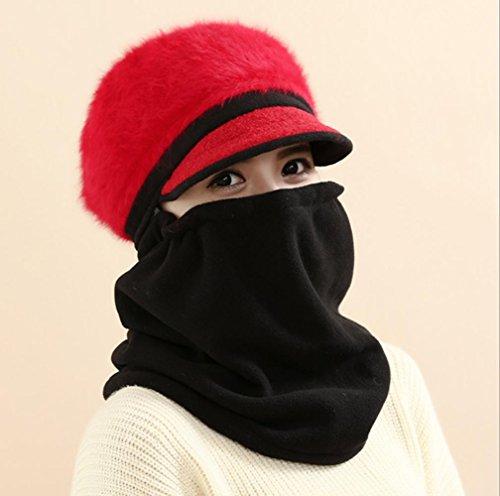 Oreille chapeau d'hiver chaude épaississement coupe-vent pour les dames , 8