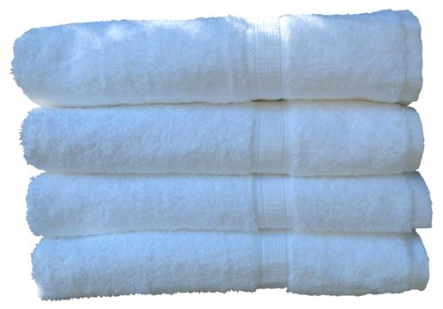 4 Large, Extra-absorbent Luxury Bath Towels, White, By San Vincente