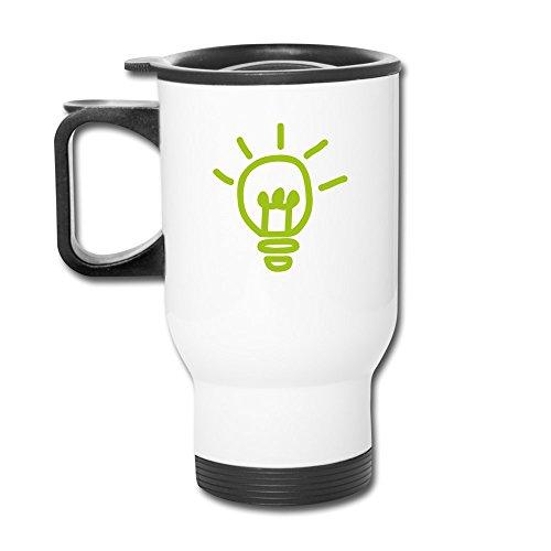 HNNsp Green Lightbulb Travel Mugs (Cricket Travel Cartridge)