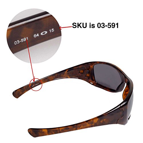 58a24cf743 Walleva Replacement Lenses for Oakley Hijinx Sunglasses - Multiple Options  Available (Black - Polarized)