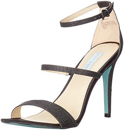 Blue by Betsey Johnson Women's Sb-Kelly Dress Sandal, Black Glitter, 7 M US