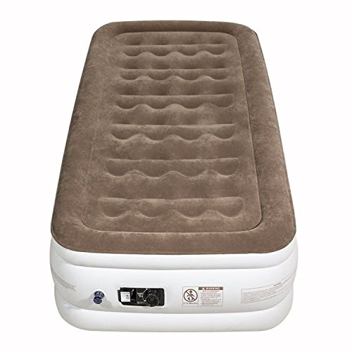 Etekcity Upgraded Air Mattress Blow Up Elevated Raised Guest Bed Inflatable Airbed with Built-in Electric Pump, Height 18'', Twin Size (Inflatable Size Bed Twin)