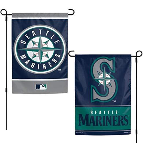 Stockdale Seattle Mariners WC Garden Flag Premium 2-Sided Outdoor House Banner Baseball