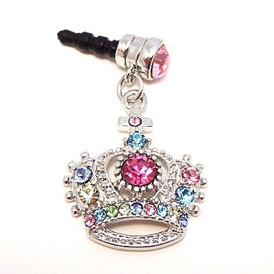 Multi Cross Crown Ear Phone Jack Cap Charm Cell Phone Rhine Stone