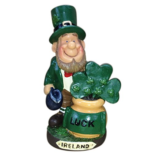 Carrolls Irish Gifts Lucky Folk Leprechaun Growing Shamrocks in A Pot & Ireland Design