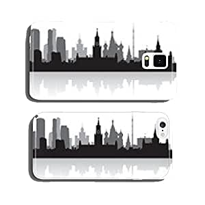 Moscow city skyline vector silhouette cell phone cover case Samsung S6