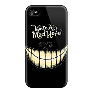 Case Cover Alice In Wonderland We Are All Mad Here/ Fashionable Case For Iphone 4/4s
