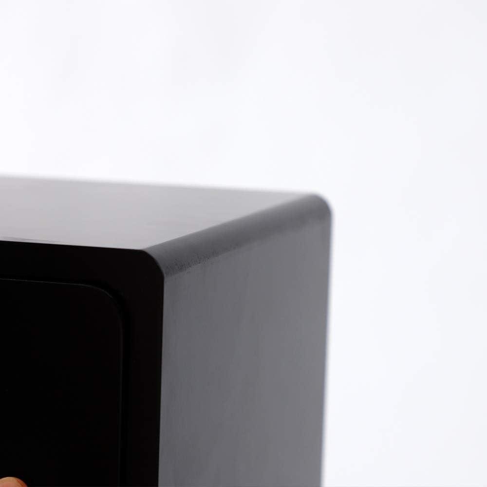 Zwei Schubladen schwarz Minimalismus YIFAA Nachttisch