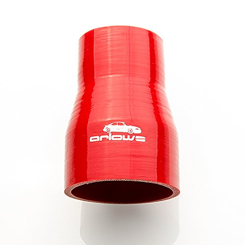 Diameter 35 mm to 28 mm silicone hose reducer reducer (Red)