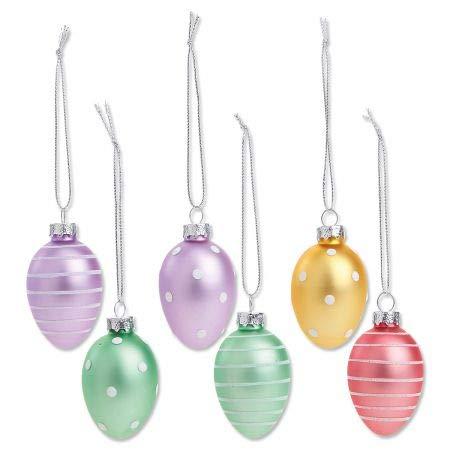 (Lillian Vernon Pastel Easter Egg Ornaments- Set of 12 Assorted)