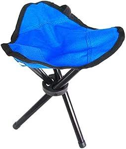 مقعد مقعد قابل للطي من الفولاذ خفيف الوزن للاستخدام في الهواء الطلق والتخييم والتنزه والصيد وكرسي ثلاثي الزوايا من AUTO