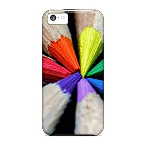 GoldenArea Protective Case For Iphone 5c(colored Pencils)