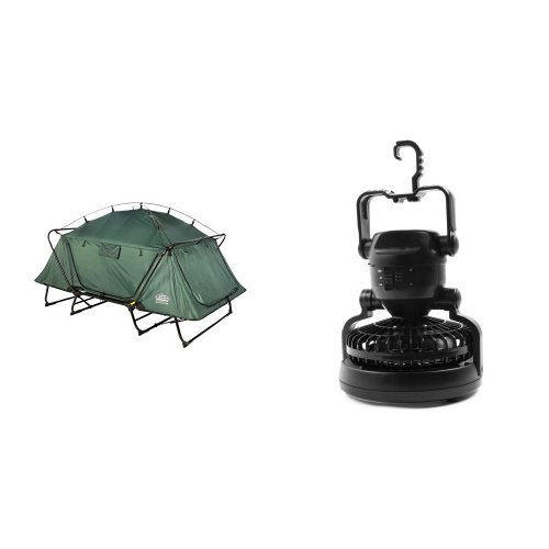 KampRite Double TentCot and Image Portable LED Camping Lantern with Ceiling Fan Bundle by Kamp-Rite (Image #1)