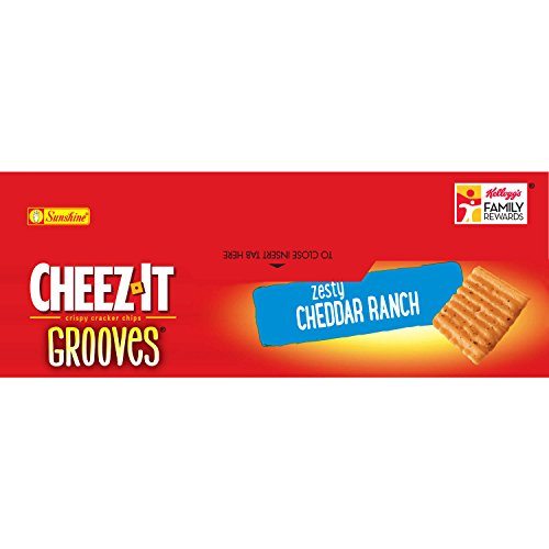 PACK OF 13 - Cheez-It Grooves Zesty Cheddar Ranch Crispy Cracker Chips, 9 oz by Cheez-It (Image #7)