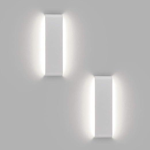 Klighten 2 Pack 30cm Mirror Lamp 4000k Bianco Naturale Trucco Leggero Lampada Dell Armadietto Luce Decorativa Per Corridoio Vano Scale Sala Da Pranzo Soggiorno Bianco Amazon It Illuminazione