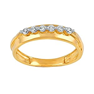 Giantti Daily Wear Women's 14KT Diamond Ring - IGL Certified ( 0.15 Ct, I1 Clarity, GH-Colour)