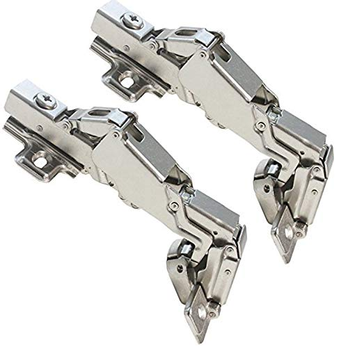 Gobrico Concealed Kitchen Cabinet Door Hinges 165 Degree Soft Closing Frameless Mounting Full Overlay-2 - Lazy Hinges Susan