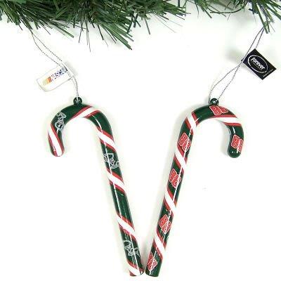 Dale Earnhardt Jr Ornaments (Dale Earnhardt Jr NASCAR Candy Cane Ornament Set of 6)