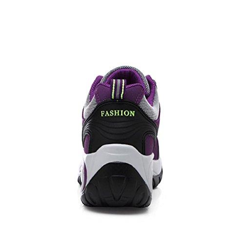 Sneaker EU Einlegesohle Höhe Lila Sportschuhe Air Low Erhöhung Damen Gold Bequeme T Laufschuhe Top Turnschuhe 39 Luftpolster 6wOvA