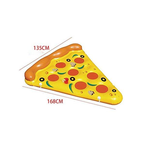 YGJT Piscina Galleggiante Pizza Gigante Slice Pool Letto Galleggiante Cuscino Gonfiabile del PVC per Lo Sport Acquatico… 2 spesavip