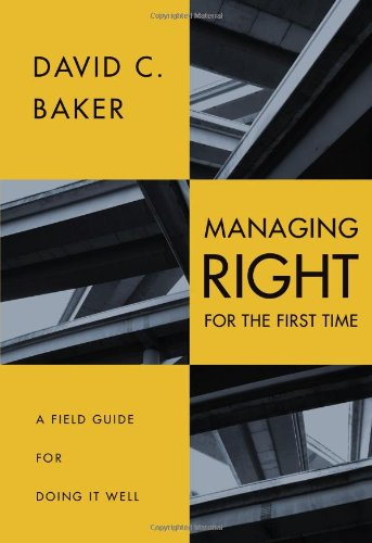 Managing Right First David Baker product image
