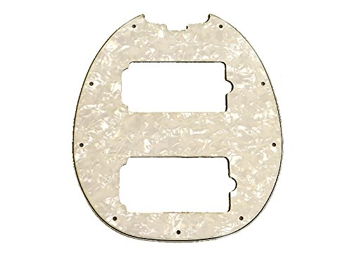 MUSIC MAN ミュージックマン StingRay 4弦、HH用ピックガード White Pearloid B0186V81P0  White Pearloid