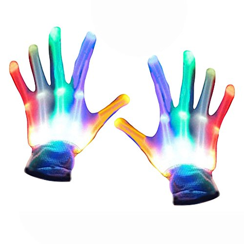 TOPTOY Gifts for Teen Girls, Flashing LED Gloves, Flashing LED Gloves Gift Ideas for Teen Boys Girls Cool Toys (Games For Middle School Halloween Party)