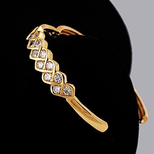 YAZILIND 18K La conception unique plaqué zircone cubique or Zircon Femme Classique Bangle Bijoux de mariage cadeau