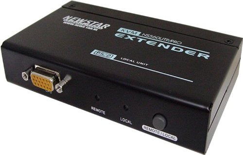 NewStar UTP KVM-Verlängerungskabel, PS/2-Eingabegerät (PS/2, schwarz, PS/2, PS/2, VGA, 1920x 1200Pixel)