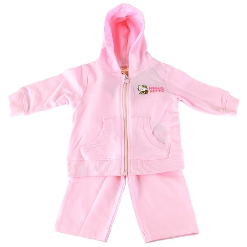 Hello Kitty Organics Baby Girls' Hoodie and Jogging Pant Set, Light Pink, 3-6 Months