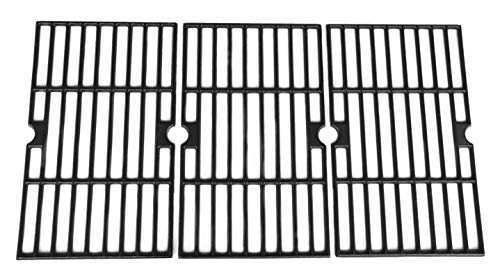 Uniflame Grill Replacement Parts - Hongso PCA593 Matte Cast Iron Cooking Grid Replacement for Uniflame GBC1059WB, Uniflame GBC1059WE-C, Backyard Grill BY12-084-029-98 and Other Gas Grill Models, Set of 3
