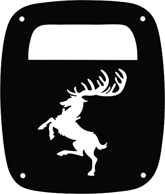 JeepTails Game of Thrones House of Baratheon - Jeep YJ Wrangler Tail Lamp Covers - Black - Set of 2