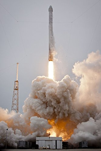 Home Comforts Laminated Poster Flames Launch Rocket Launch Lift Off Spacex Poster