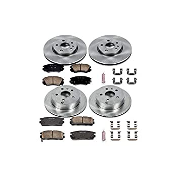 Image of Brake Kits Power Stop KOE5516 Front and Rear Brake Kit- Stock Replacement Brake Rotors and Ceramic Brake Pads