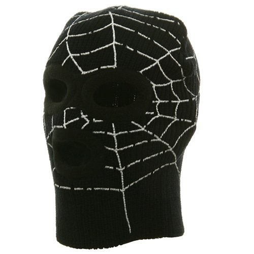 Super Hero Spiderman Ski Mask-Black W20S13D ()