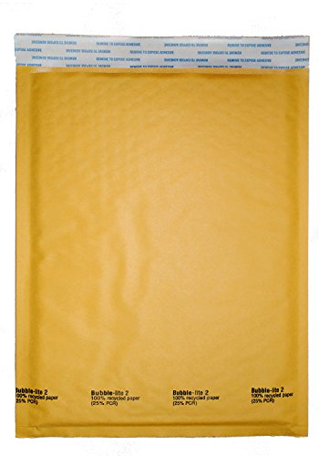 ValueMailers 1000 #2 8.5x12 Kraft Yellow Bubble Lite Mailers Padded Shipping Envelopes by ValueMailers